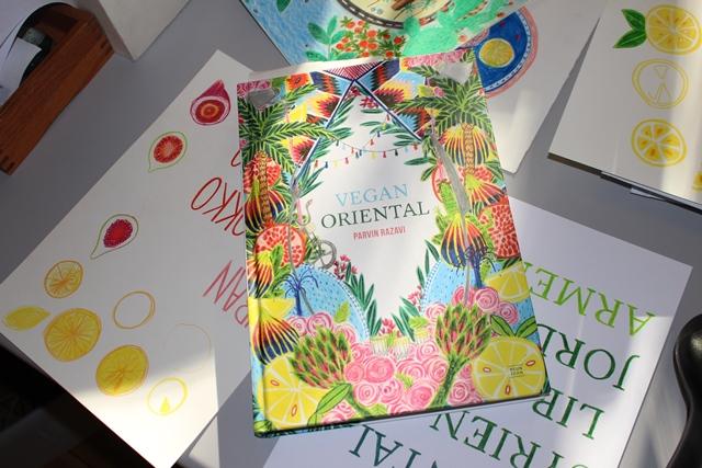 """Das Buch """"Vegan Oriental"""", illustriert von Henriette Artz"""